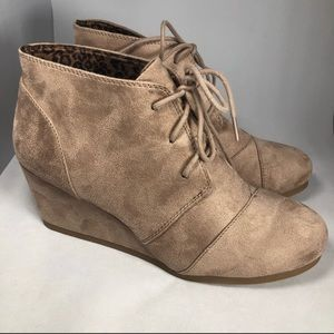 Nude colored booties
